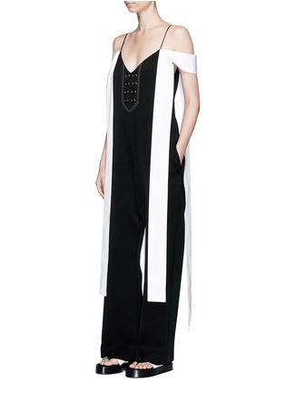 Figure View - Click To Enlarge - Ellery - 'Regina' sleeve tie crepe jumpsuit