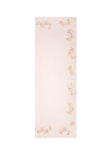 JanaviLeaf appliqué floral lace insert cashmere scarf