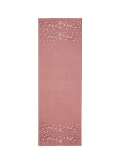 JanaviFloral lace insert cashmere scarf