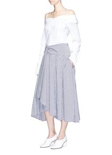 Rosie AssoulinSmocked waist check full volume skirt