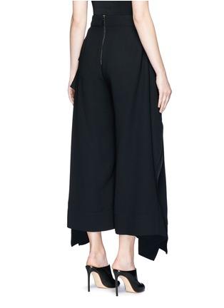 Back View - Click To Enlarge - Miss Maticevski - 'Regulation' sculptural wide leg pants