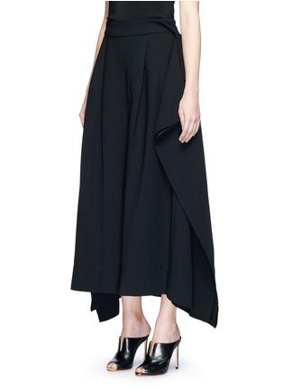 Front View - Click To Enlarge - Miss Maticevski - 'Regulation' sculptural wide leg pants