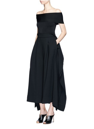 Figure View - Click To Enlarge - Miss Maticevski - 'Regulation' sculptural wide leg pants