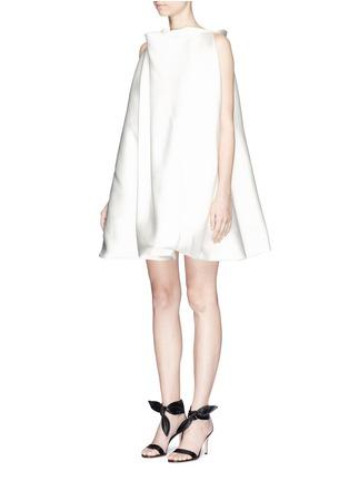Front View - Click To Enlarge - Maticevski - 'Establishment' duchesse satin swing dress