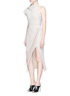 Maticevski'Elite' folded slit front pencil skirt