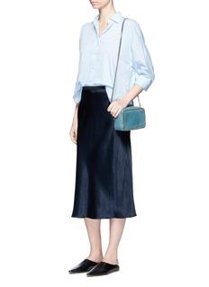 VinceElastic waist satin slip skirt