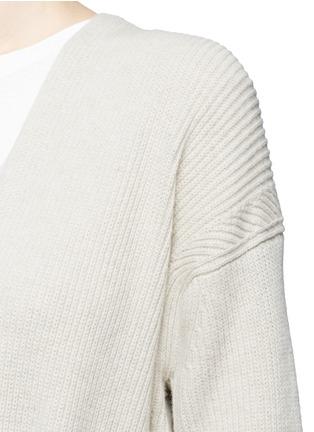 Detail View - Click To Enlarge - Helmut Lang - Belted side split wool-cashmere cardigan