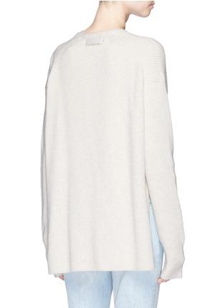 Back View - Click To Enlarge - Helmut Lang - Belted side split wool-cashmere cardigan