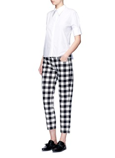 VICTORIA, VICTORIA BECKHAM Gingham print cropped jeans