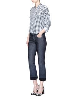 VICTORIA, VICTORIA BECKHAMWool felt cuff cropped flare jeans