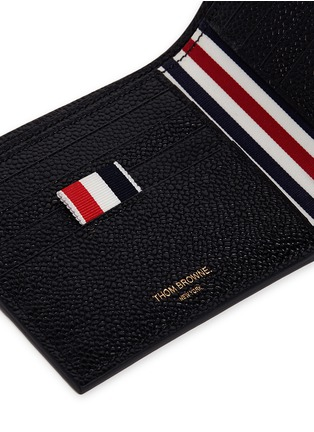 Detail View - Click To Enlarge - Thom Browne - Pebble grain leather bifold wallet