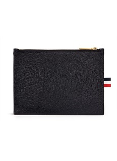 Thom Browne Pebble grain leather large zip coin pouch