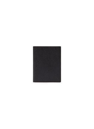 首图 - 点击放大 - THOM BROWNE - 条纹罗缎装饰粒面真皮护照夹