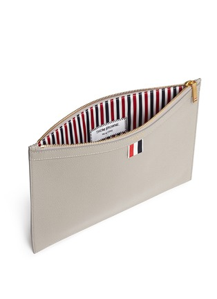 Detail View - Click To Enlarge - Thom Browne - Pebble grain leather tablet holder