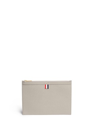 Main View - Click To Enlarge - Thom Browne - Pebble grain leather tablet holder