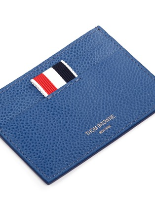 Detail View - Click To Enlarge - Thom Browne - Pebble grain leather cardholder