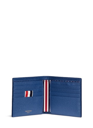 Figure View - Click To Enlarge - Thom Browne - Pebble grain leather bifold wallet