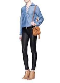 Frame Denim'Le Skinny de Jeanne' lambskin leather pants
