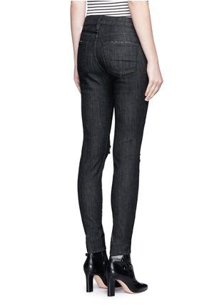 Back View - Click To Enlarge - Frame Denim - 'Le Skinny de Jeanne' ripped knee jeans