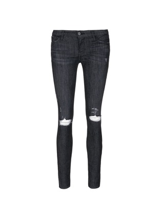 Main View - Click To Enlarge - Frame Denim - 'Le Skinny de Jeanne' ripped knee jeans