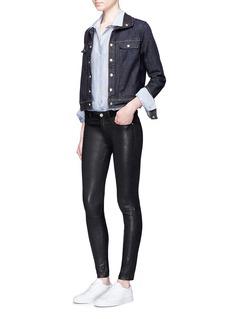 Frame Denim'Le Cropped' stand collar denim jacket