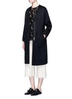 Ms MIN Oversized double-faced wool-cashmere coat