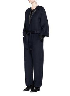 Ms MINWool blend flannel jumpsuit