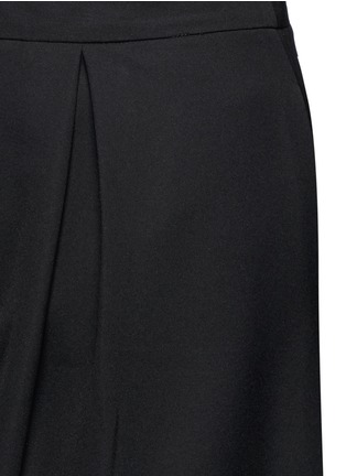 Detail View - Click To Enlarge - Cynthia & Xiao - Textured tartan colourblock culottes