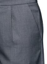 Wide leg wool blend cropped pants