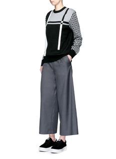 CYNTHIA & XIAOWide leg wool blend cropped pants