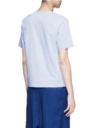 Back View - Click To Enlarge - FFIXXED STUDIOS - 'Daniel' stripe cotton shirt