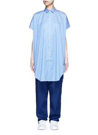 FFIXXED STUDIOS-Open sleeve stripe shirt
