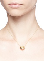 'Evolution Of Rock' diamond quartz 18k yellow gold necklace