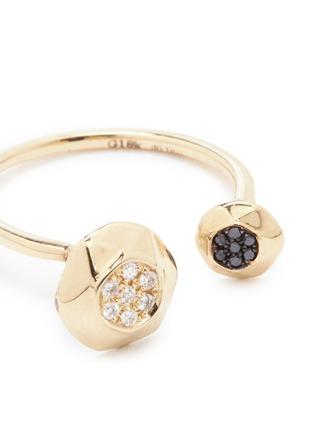 细节 - 点击放大 - LAMA HOURANI JEWELRY - You and me钻石镶嵌18k金戒指