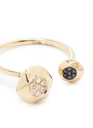 Lama Hourani Jewelry -'Evolution of Rock' diamond pavé 18k yellow gold open ring