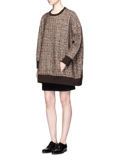 Neil Barrett Oversized tweed pullover