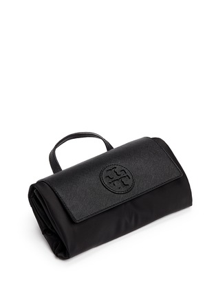 - Tory Burch - 'Ella' packable saffiano leather flap nylon backpack