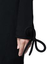 Bow cuff silk cady dress