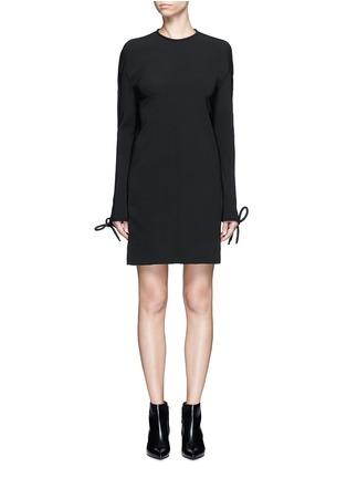 Main View - Click To Enlarge - Balenciaga - Bow cuff silk cady dress