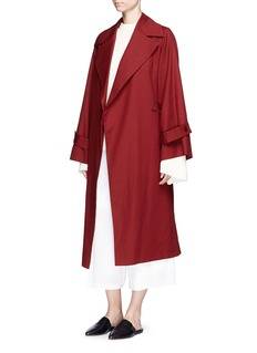 The Row'Swells' belted cotton coat