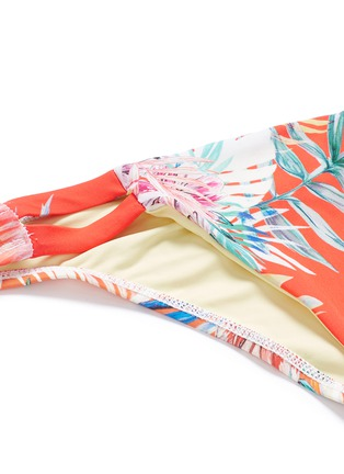 Vitamin A - 'Neutra' tropical leaf print hipster bikini bottoms