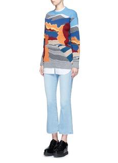 Stella McCartneyLandscape jacquard embroidered wool sweater
