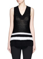 'Dina Halter' stripe chunky knit sleeveless top
