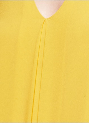 Detail View - Click To Enlarge - alice + olivia - 'Holland' plunge neck T-back silk dress