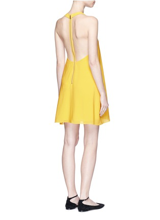 Figure View - Click To Enlarge - alice + olivia - 'Holland' plunge neck T-back silk dress