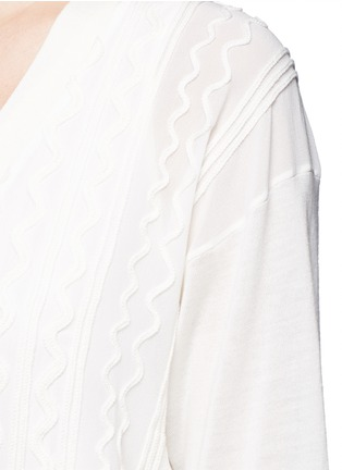 Chloé-Knit squiggle silk georgette cardigan