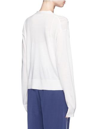 背面 - 点击放大 - CHLOÉ - 波浪纹理羊毛针织衫