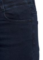 Flared leg cotton denim pants