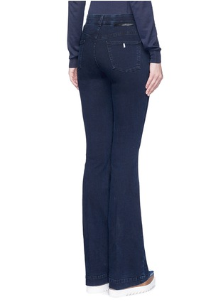 Back View - Click To Enlarge - Stella McCartney - Flared leg cotton denim pants