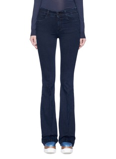 Stella McCartney Flared leg cotton denim pants